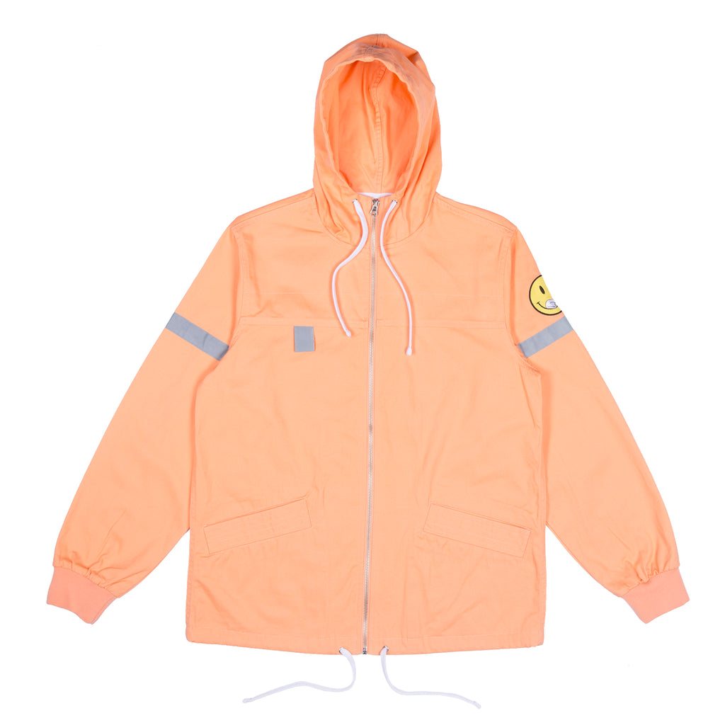 Everything Will Be Ok Cotton Fisherman Jacket (Salmon)