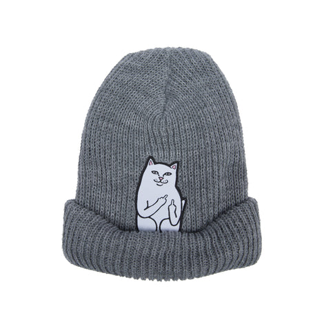 Lord Nermal Ribbed Beanie (Gray)