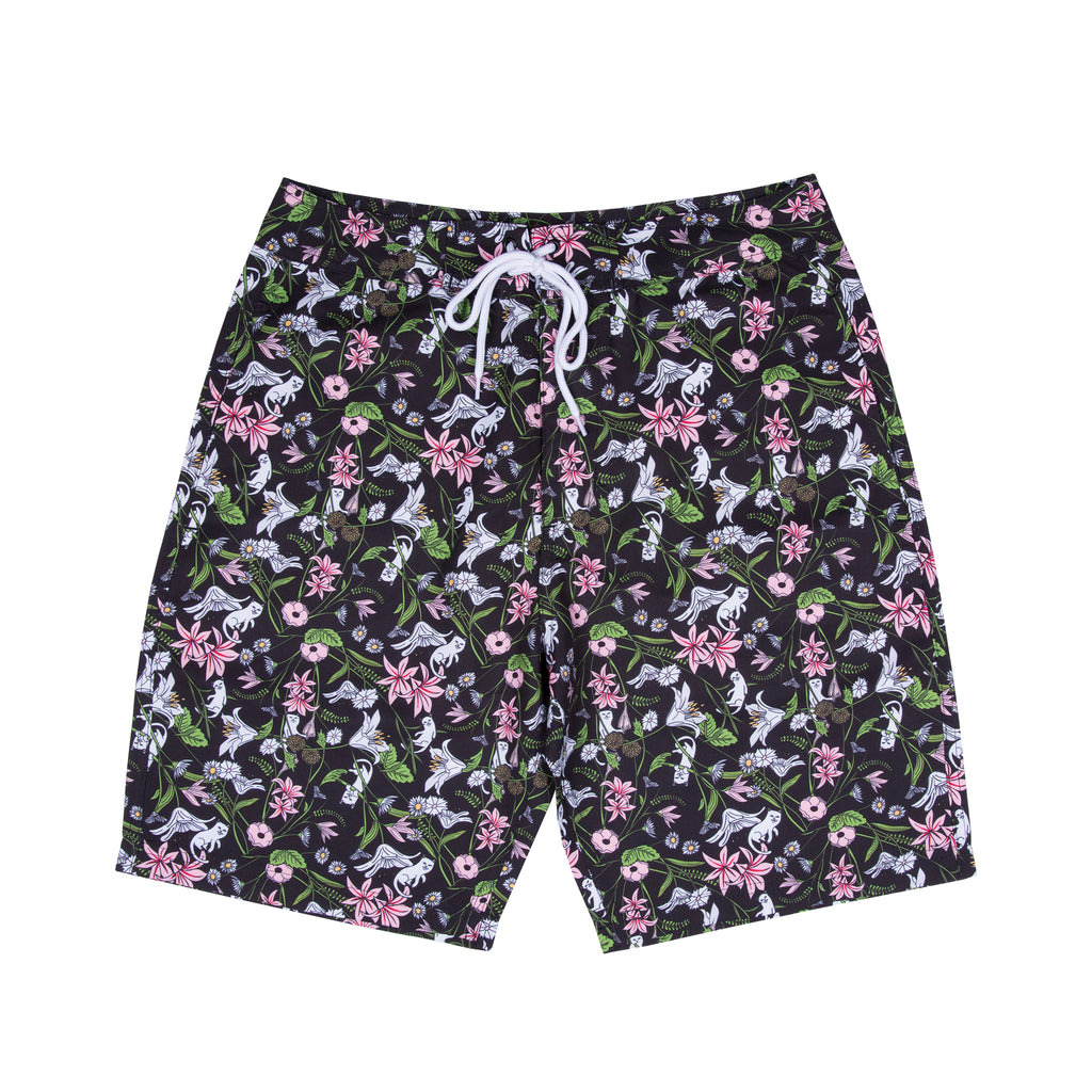 Nerm Flower Swim Shorts (Black)