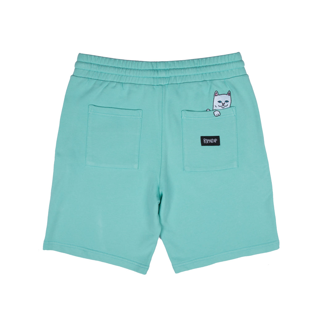 Peek A Nermal Over Dye Sweat Shorts (Mint)