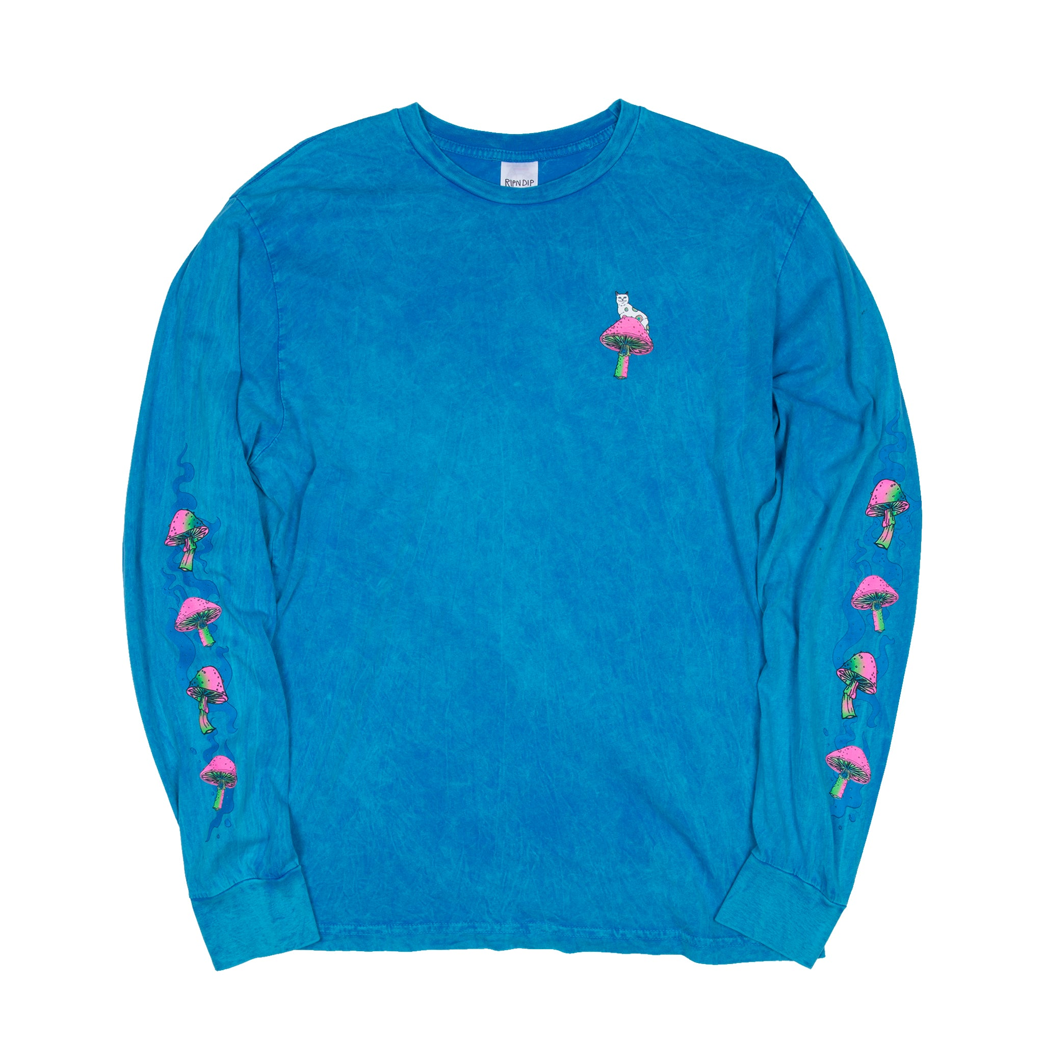 Psychedelic L/S Tee (Bleached Blue)