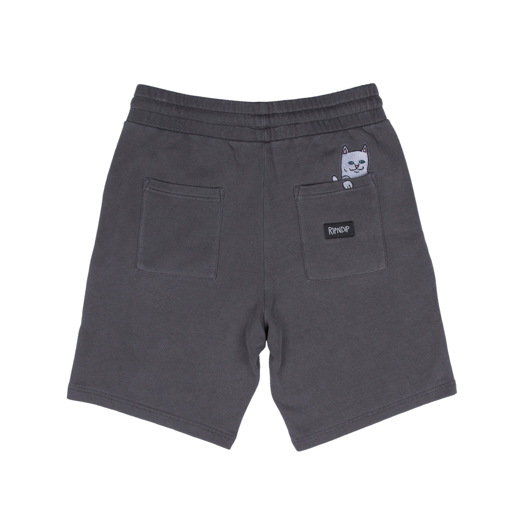 Peek A Nermal Over Dye Sweat Shorts (Black)