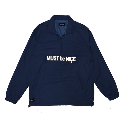 Must Be Nice Half Zip Anorak Jacket (Blue)