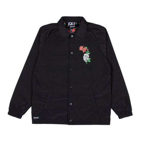 Dead Rose Nylon Coaches Jacket (Black)