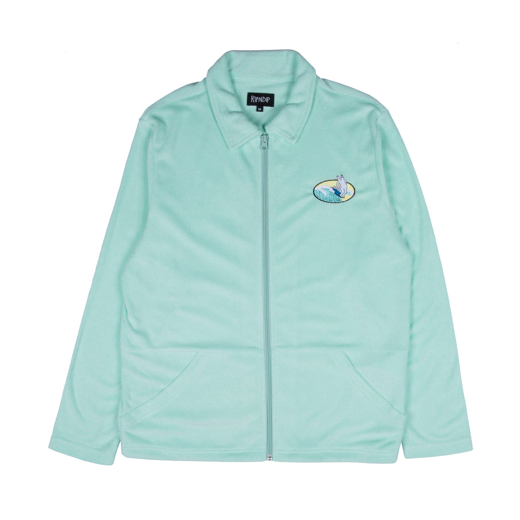 Paradise Terry Cloth Zip Up Jacket (Mint)