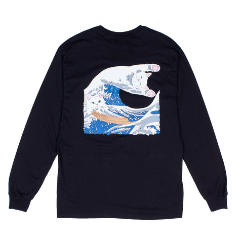 The Great Wave Of Nerm L/S Tee (Black)