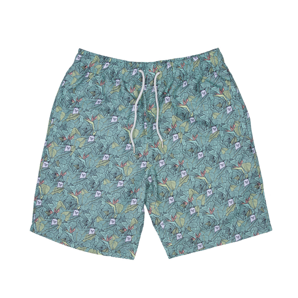 Nermal Leaf Board Shorts (Green)