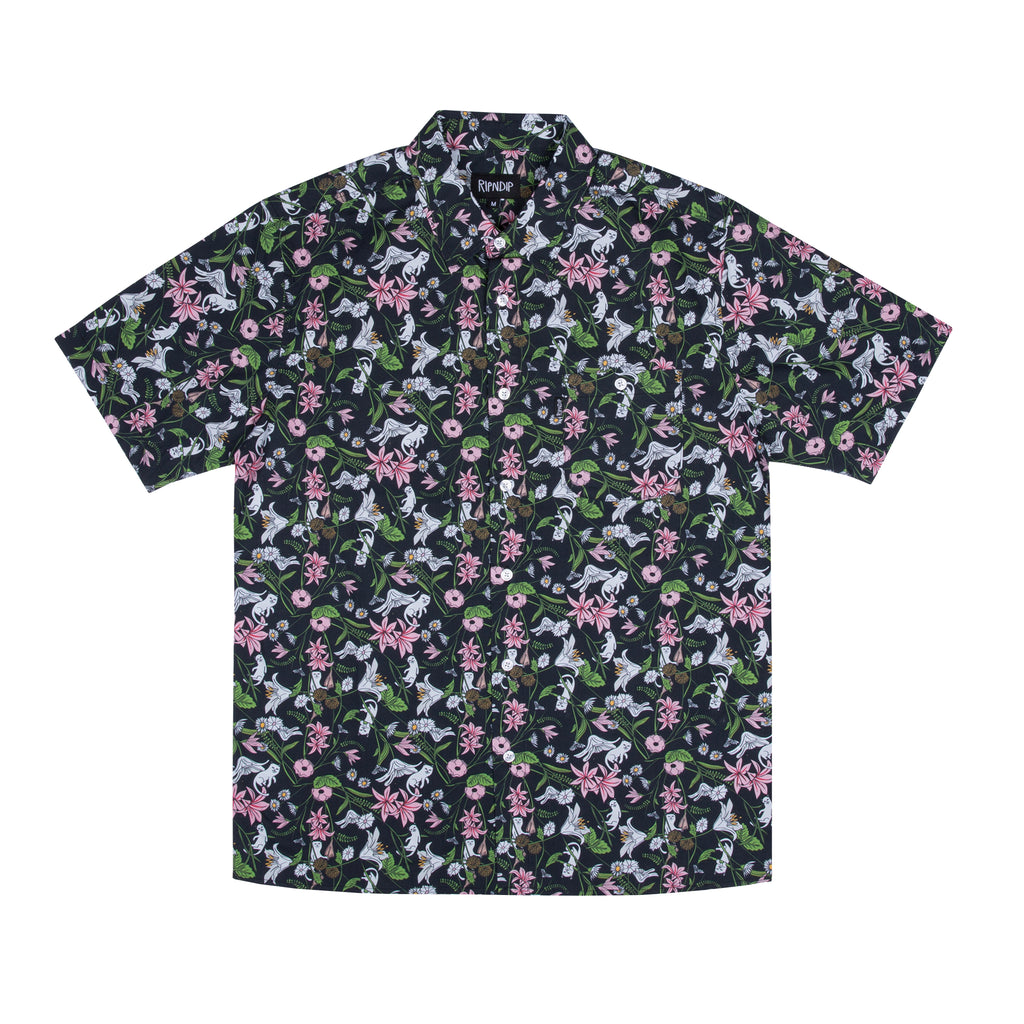 Nerm Flower Button Up (Black)