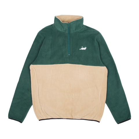 Castanza 3/4 Zip Up (Green & Tan)