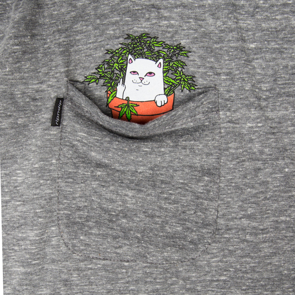 Cat Nip Pocket Tee (Heather Gray)
