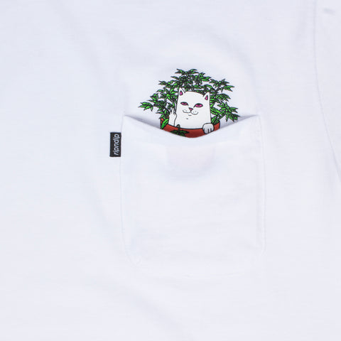 Cat Nip Pocket Tee (White)