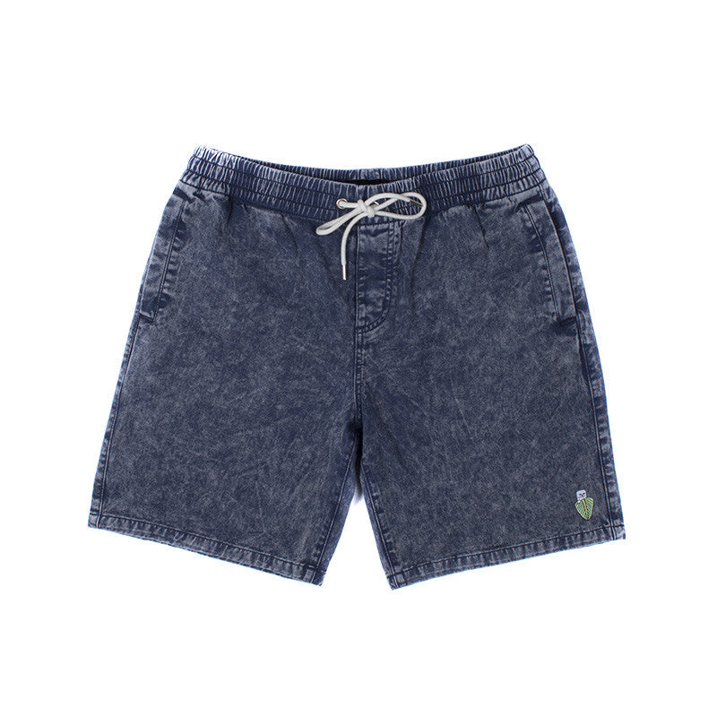 Nermal Leaf Volley Shorts (Blue Acid)
