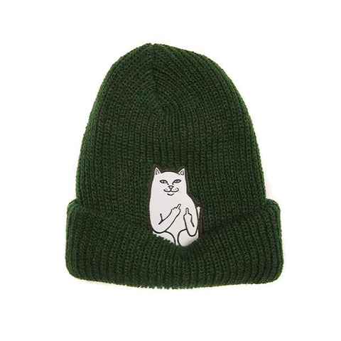 Lord Nermal Ribbed Beanie (Forest)