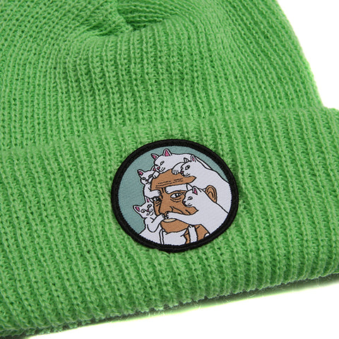 Nerm Beard Ribbed Beanie (Green)
