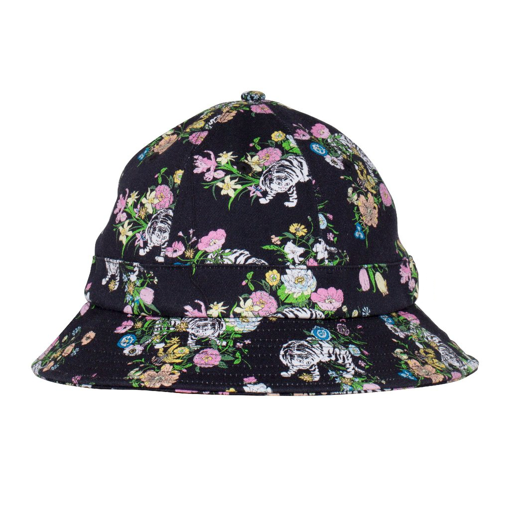 Blooming Nerm Cotton Twill Bucket (Black)