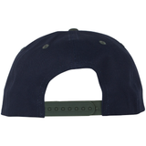 Castanza 5 Panel Snapback (Navy / Hunter Green)