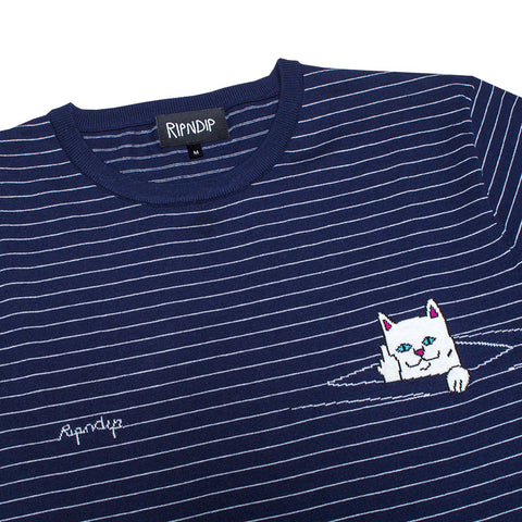 Peek A Nermal Knit Tee (Navy)