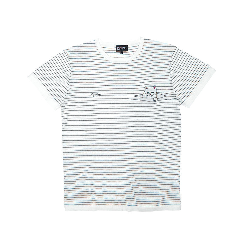 Peek A Nermal Knit Tee (White)