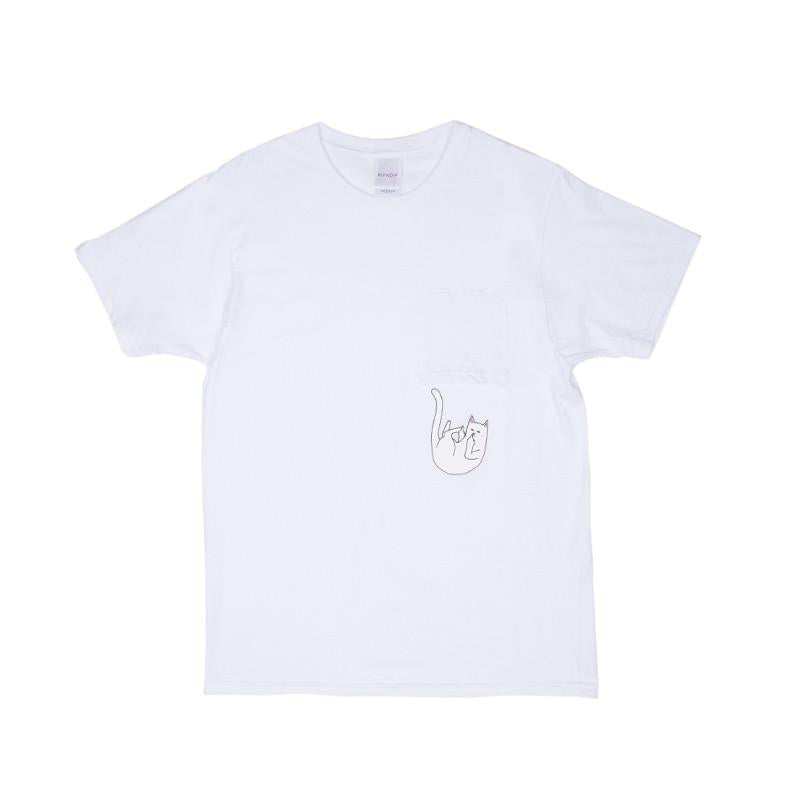 Falling For Nermal Pocket Tee (White)