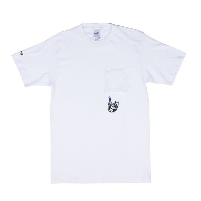 Falling Electrocuted Pocket Tee (White)
