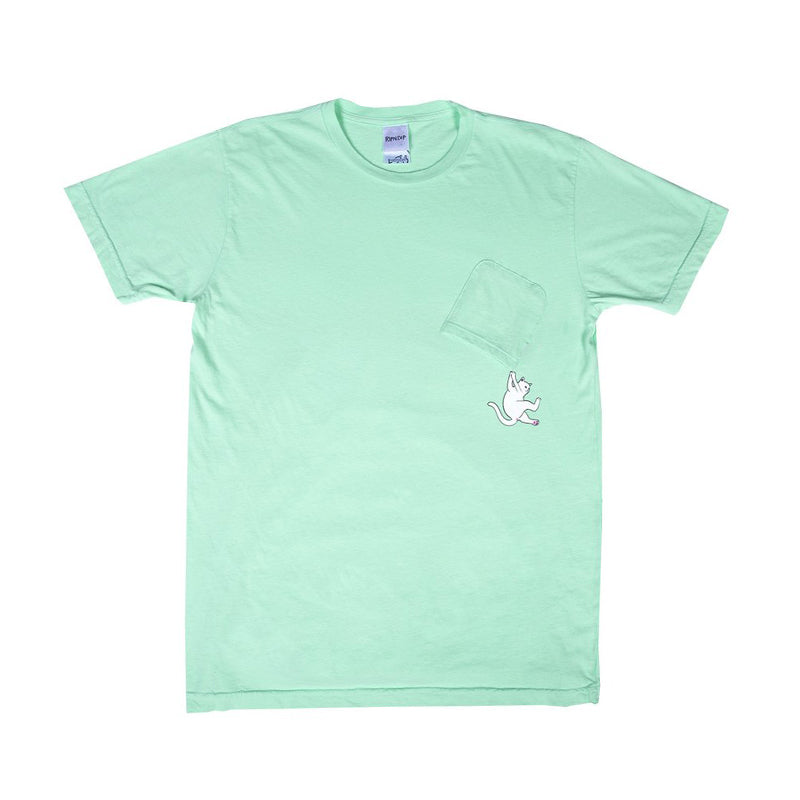 Hang In There Pocket Tee (Pastel Green)