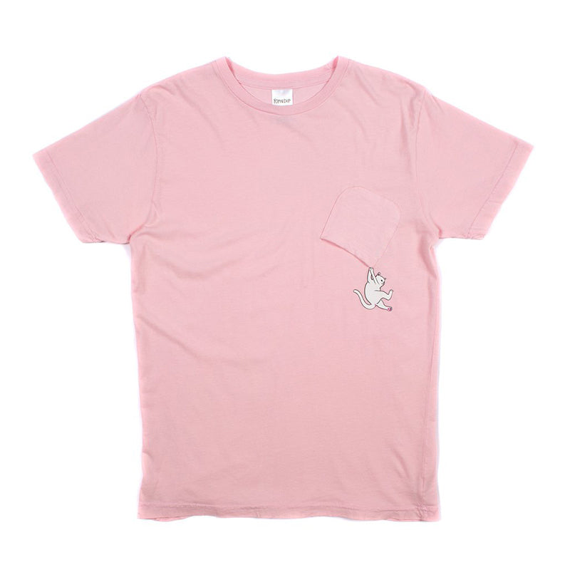 Hang In There Nermal Pocket Tee (Pink)