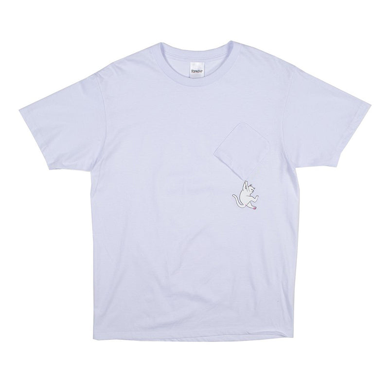 Hang In There Nermal Pocket Tee (White)