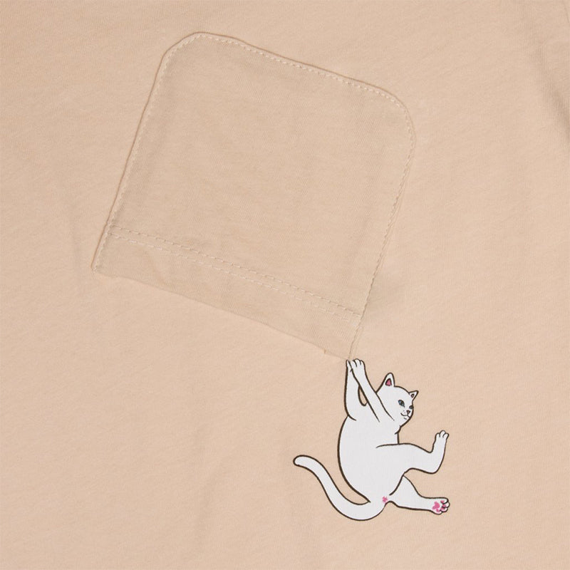 Hang In There Pocket Tee (Melon)