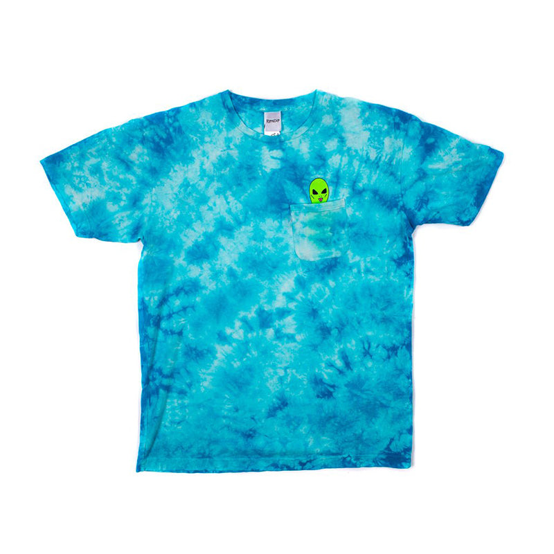 Lord Alien Pocket Tee (Bright Blue Lighting Wash)