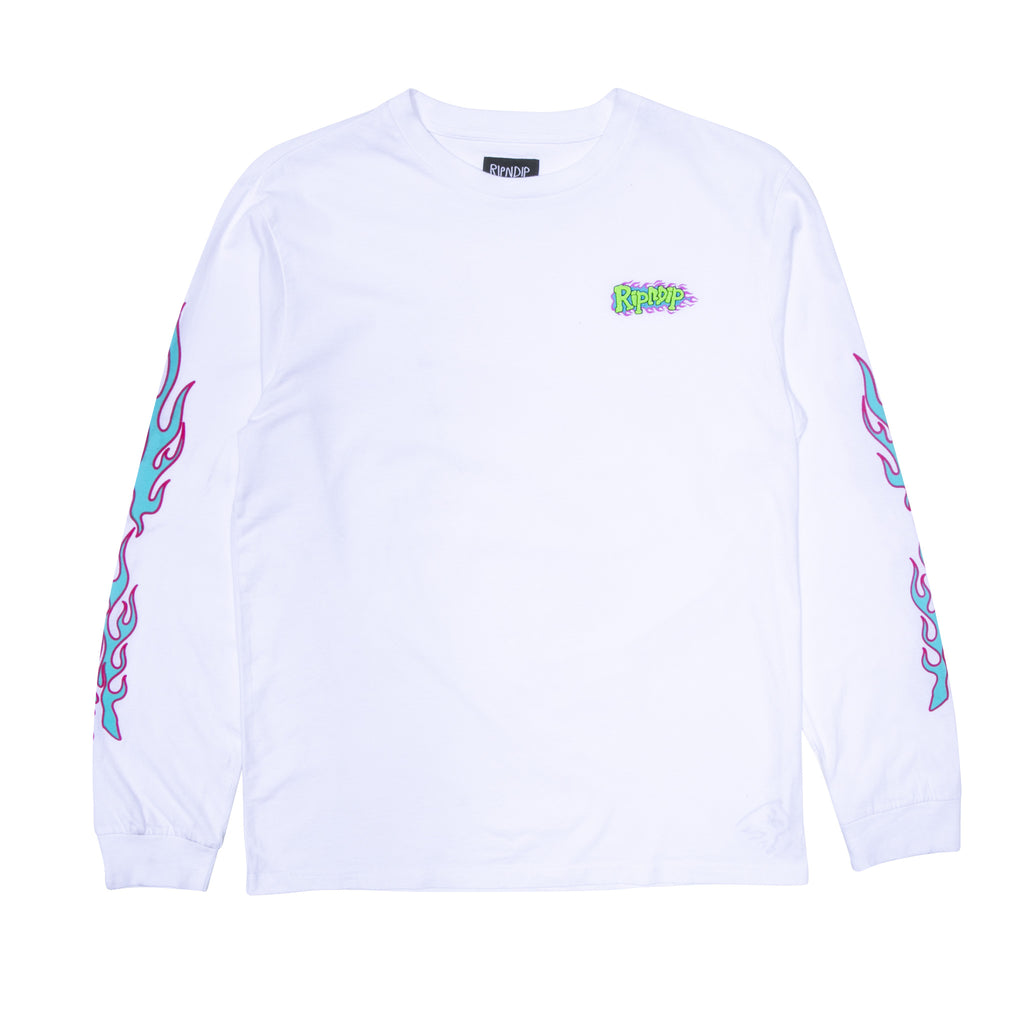 Flaming Hot L/S (White)