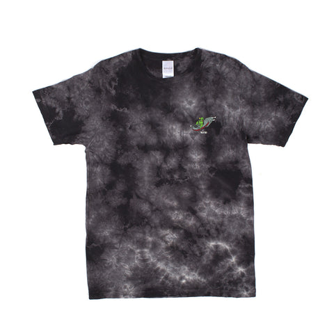 Alien Fink Tee (Black Acid Wash)