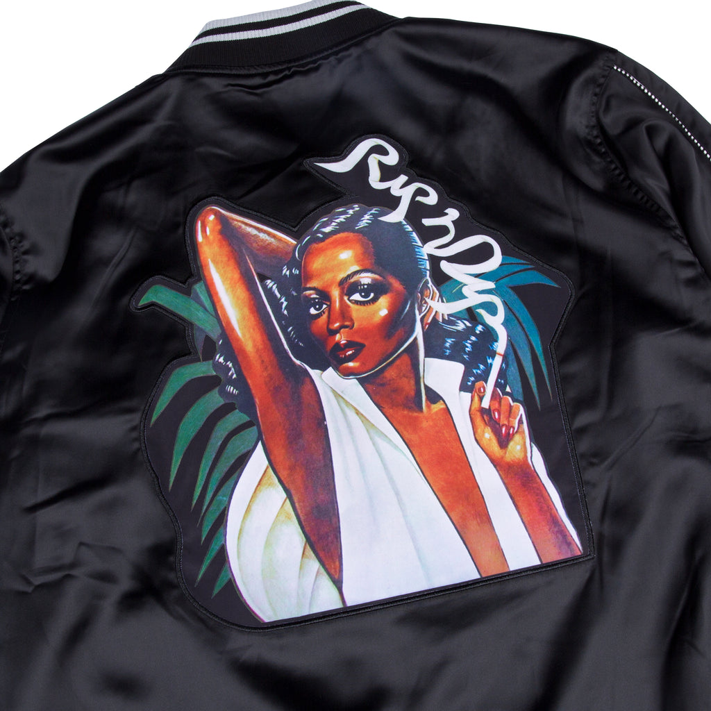 Share Some Love Satin Jacket (Black)