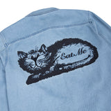 Eat Me Denim Jacket (Blue)