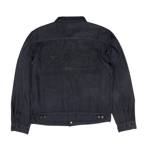 Eat Me Denim Jacket (Black)
