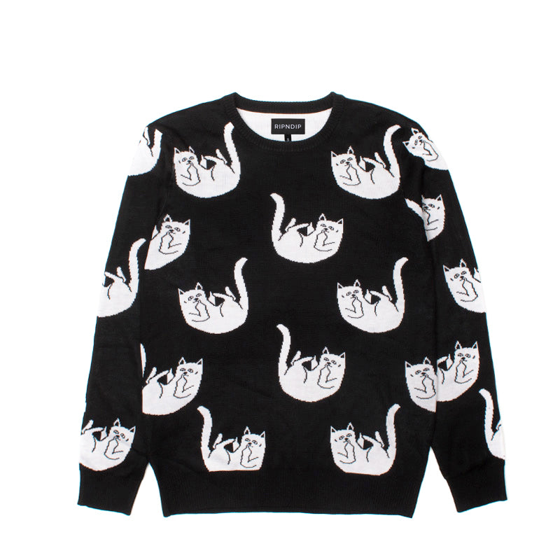 Falling For Nermal Knit Sweater (Black)