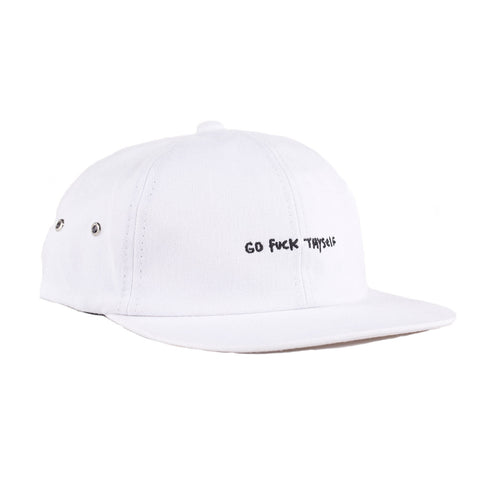 Go Fuck Thyself Six Panel (White)