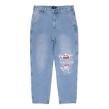 Peace No Love Denim Pants (Light Denim Wash)