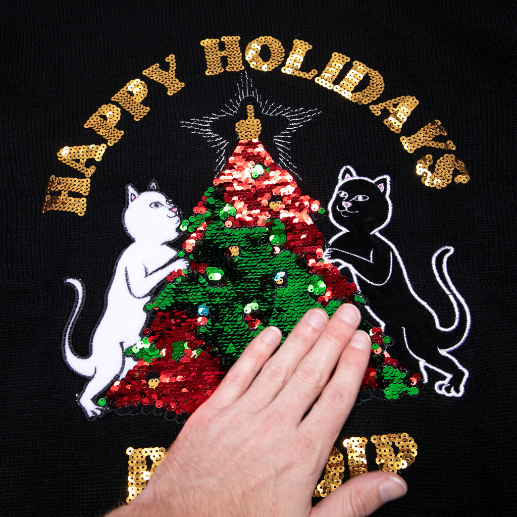 Litmas Tree Knitted Sweater (Black)