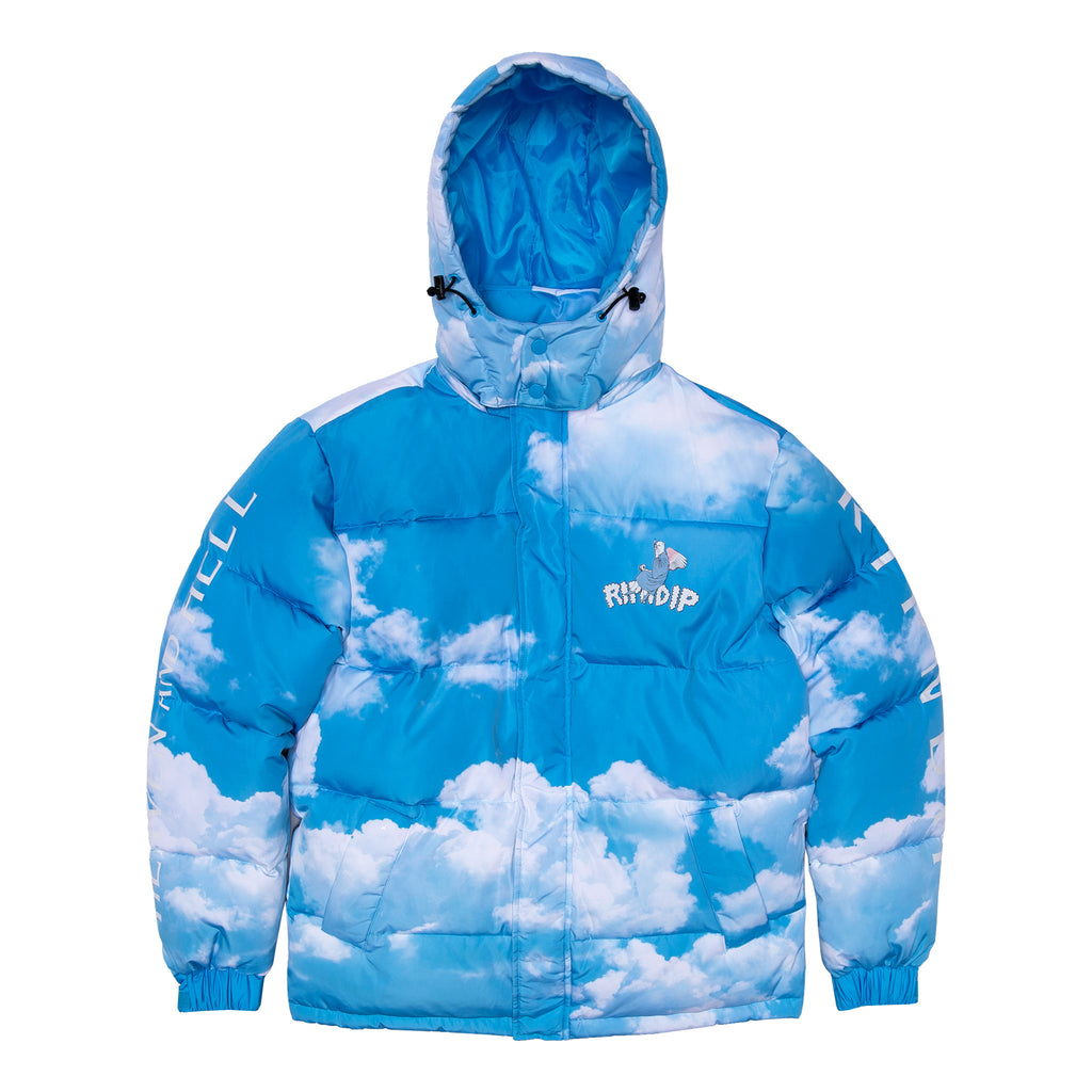 Heaven And Hell Puffer Jacket (Blue)
