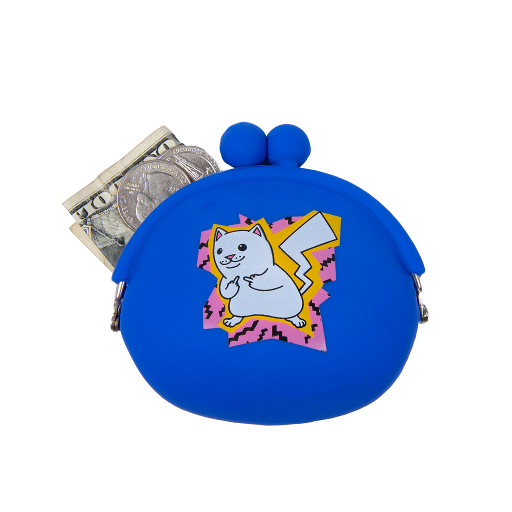 Catch Em All Rubber Coin Pouch (Blue)