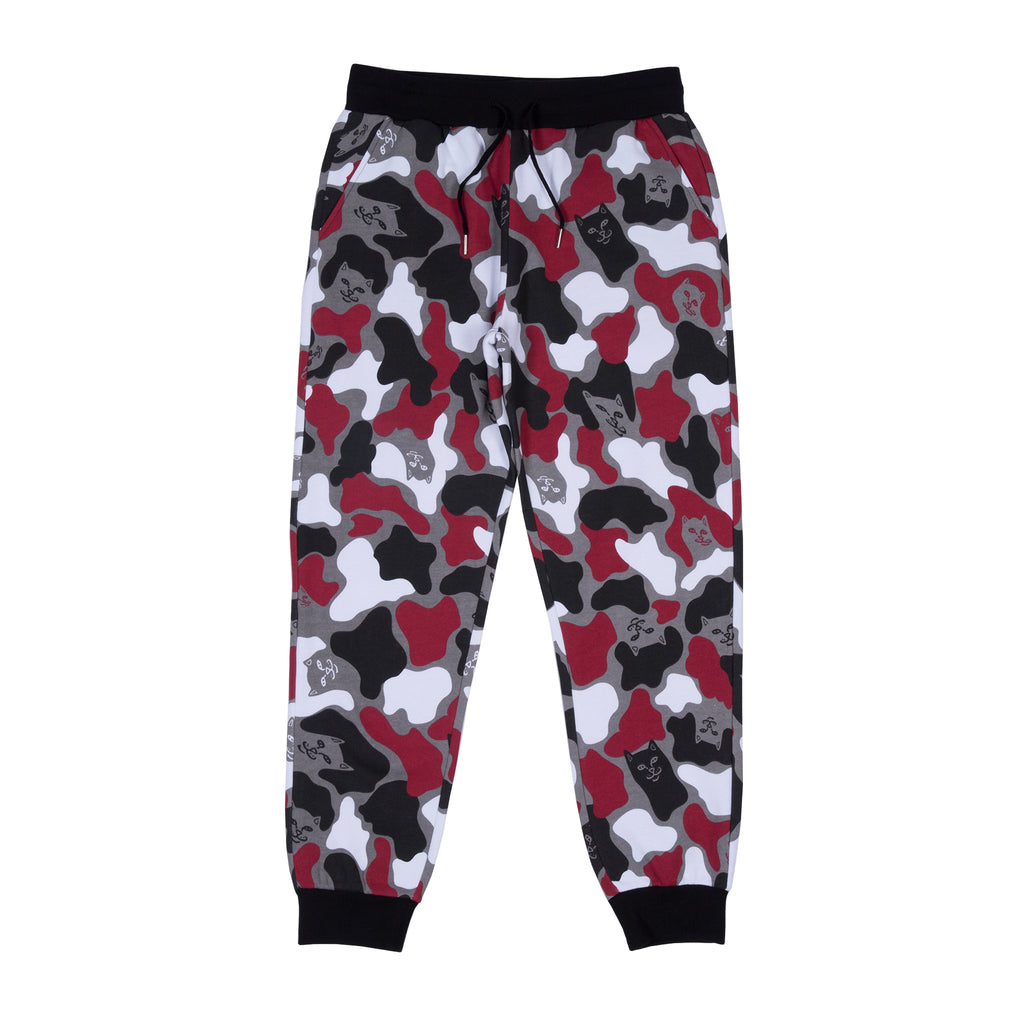 Nermal Camo Sweat Pants (Red Camo)