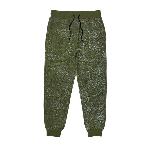 Nermal Leaf 3M Reflective Sweat Pants (Olive)