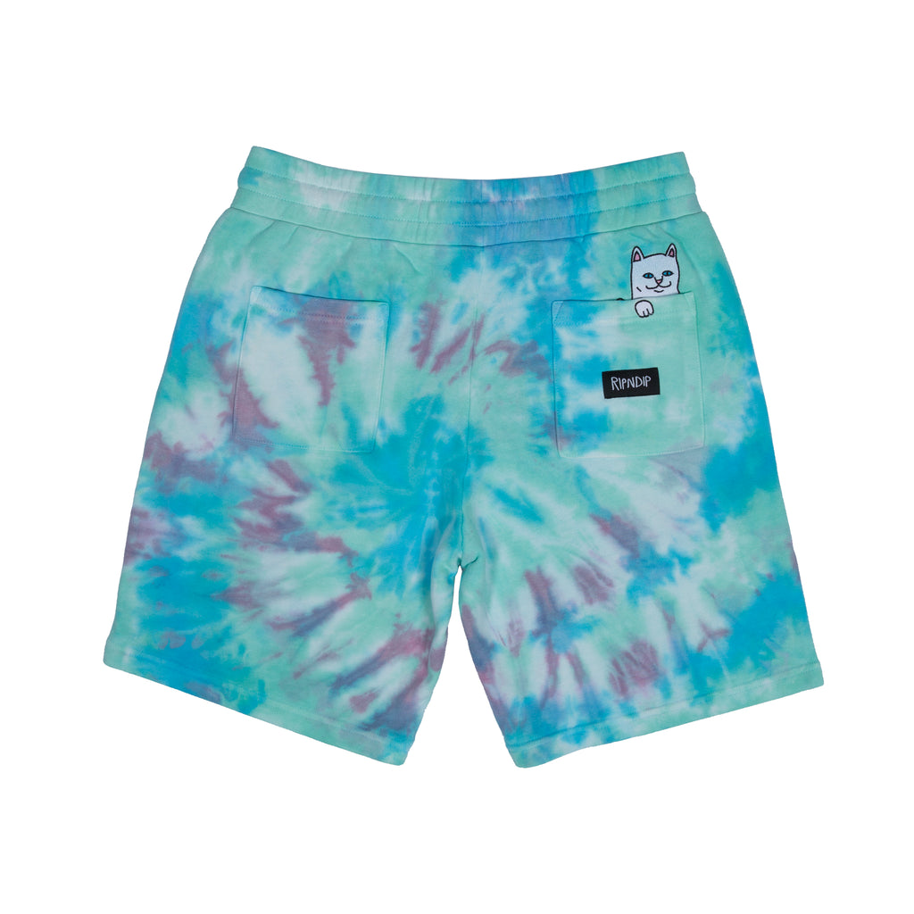 Peek A Nermal Sweat Shorts (Tie Dye)