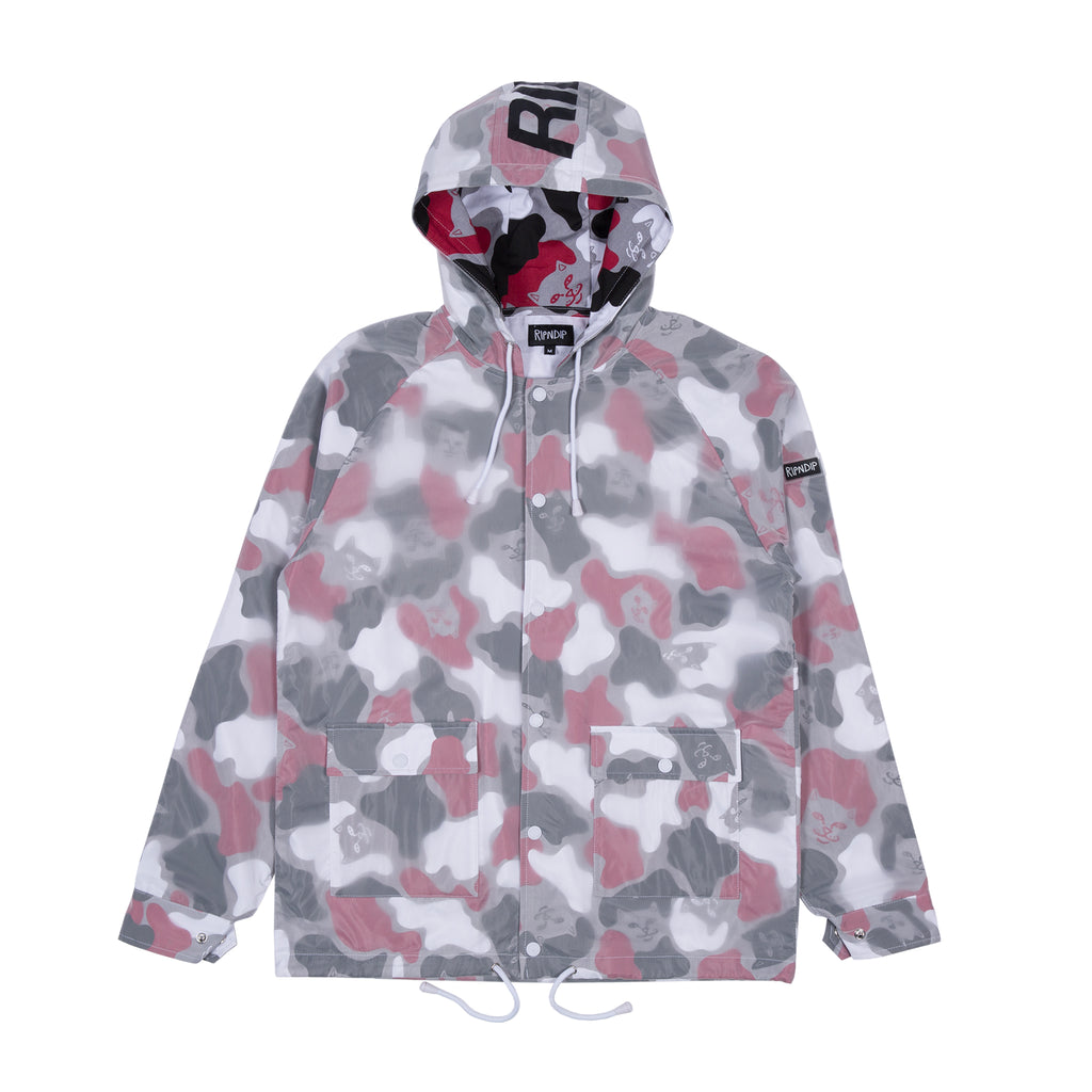 Nerm Psycho Clear Rain Coat Jacket (Red Camo)
