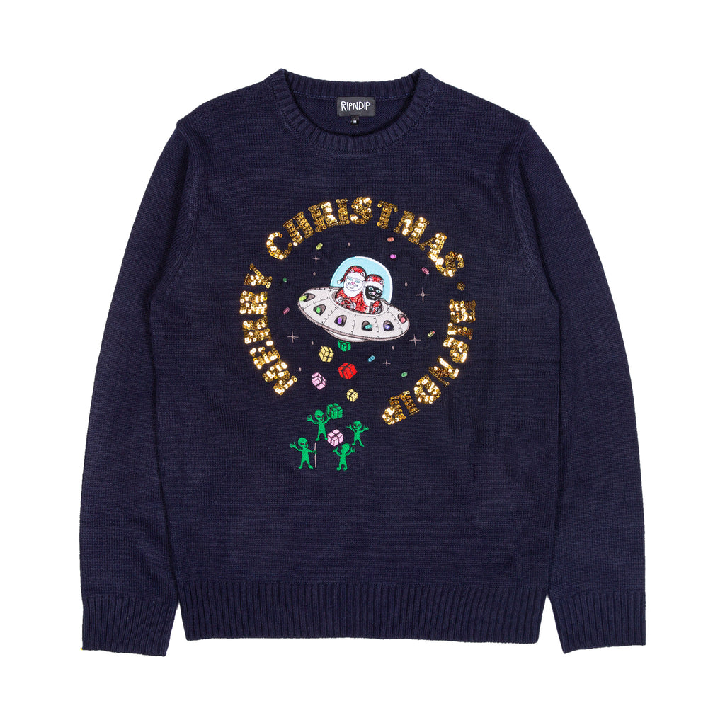 Merry Litmas Sweater (Navy)