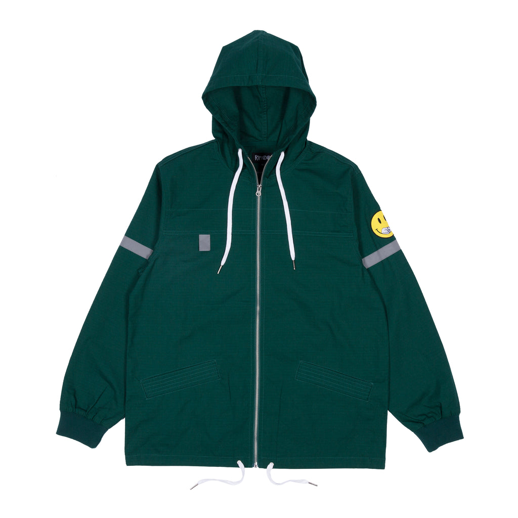 Everything Will Be Ok Cotton Fisherman Jacket (Hunter Green)
