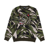 Tiger Nerm Knit Sweater (Green Camo)