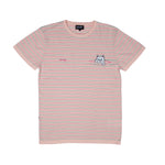 Peek A Nermal Knit Tee (Light Pink / Teal)