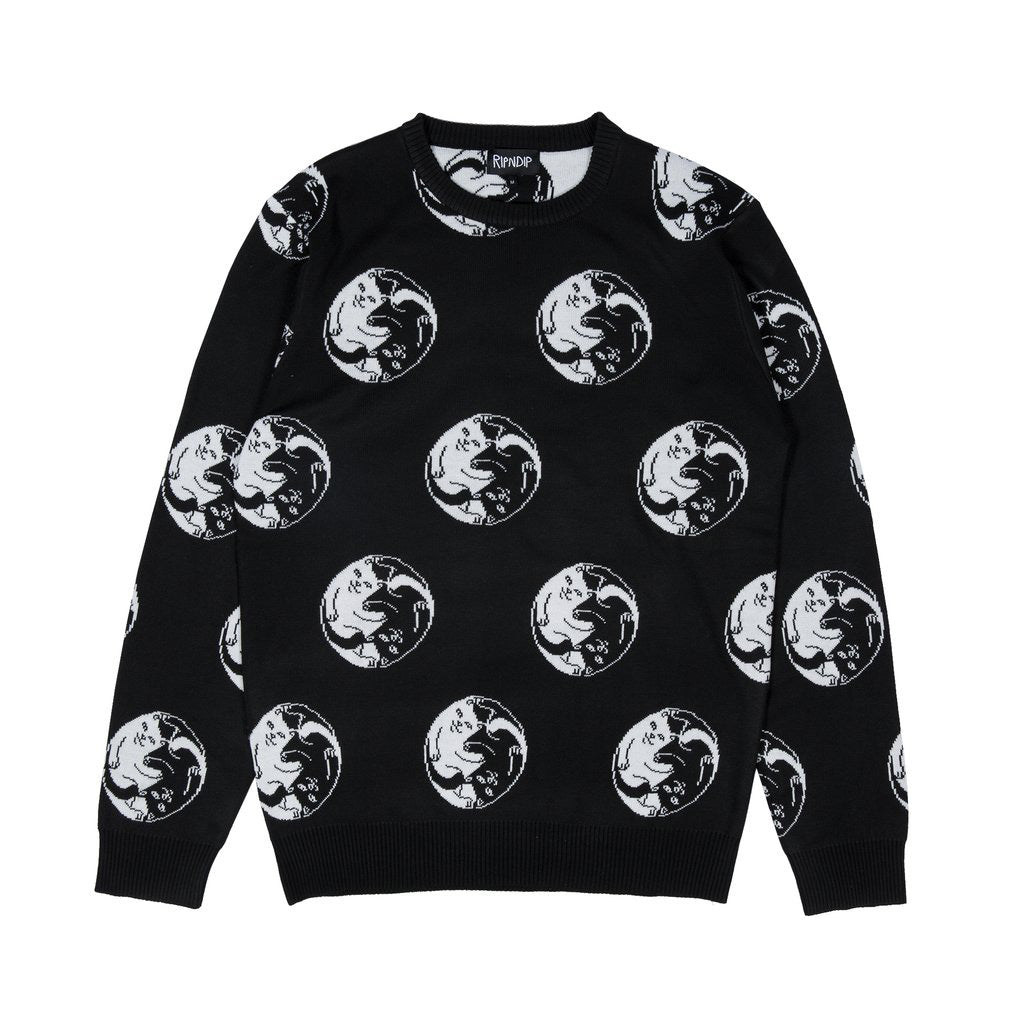 Nermal Yang Knit Sweater (Black)