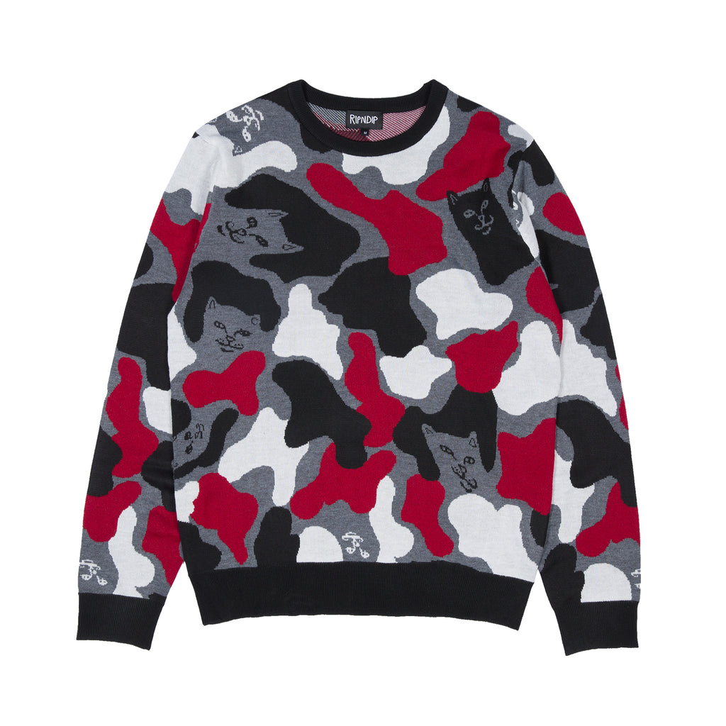 Nerm Camo Knit Sweater (Red Camo)